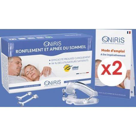 Lot de 2 ONIRIS - Orthèse d'avancée mandibulaire